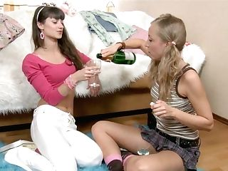 Two Lovely Teenagers Are Testing Magic Wand And Fresh Intercourse Playthings