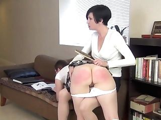 Mom Spanking Mischievous Daughter-in-law