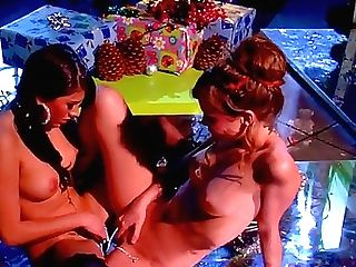 Steaming Hot Dark-haired Beauties Capri Anderson And Shyla Jennings With Mighty Make Up And Appetizing Tits Get Horny And Have Mind Deepthroating Vulv