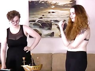 Redheads Battle It Out In A Game Of Balance