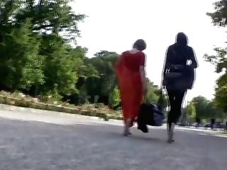 Mum And Daughter-in-law Bootless In Public
