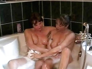 Friends Having Bath Together
