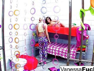 Vanessa And Natasha Nice Have A Wild Sapphic Jail Escapade