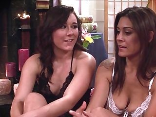 Dark-haired Sinn Sage And Raylene Gets Nude And Then Fondle Each Other