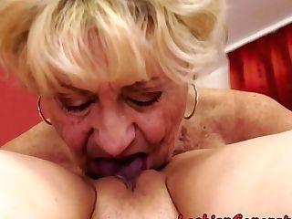 Curvy Granny Pussylicks Taut Cutie